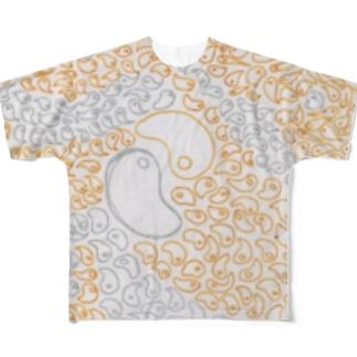 勾玉 再び Full graphic T-shirts