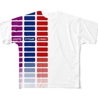 適当カラーチャート フルグラフィックTシャツ