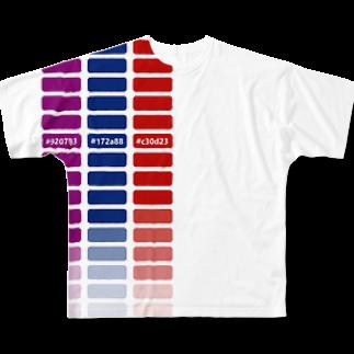 mawwwww.com   design projectの適当カラーチャート Full graphic T-shirts