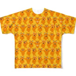 エモベアーだらけのTシャツ Full graphic T-shirts