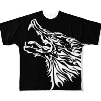 ウルフ Full graphic T-shirts