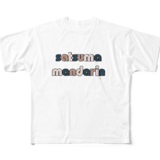 温州みかん Full graphic T-shirts
