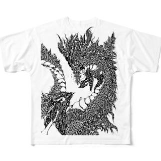模様屋さんの龍の模様 Full Graphic T-Shirt