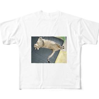 イにゃバウアーミンタ Full graphic T-shirts