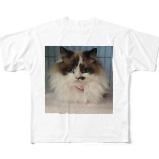 もふもふくーたん Full graphic T-shirts