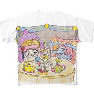 不憫婦人と過敏婦人 Full graphic T-shirts