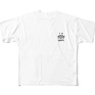カワウソらぶ Full graphic T-shirts