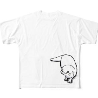 カワウソbyMOFFU. Full graphic T-shirts