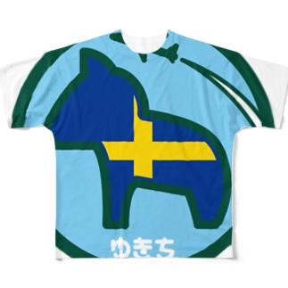 パ紋No.2943 ゆきち Full graphic T-shirts