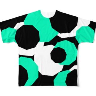 サイバー(グリーン) Full graphic T-shirts