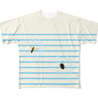 水面の虫たち Full graphic T-shirts