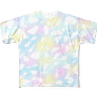 キラキラカラフルTシャツ 全面ver. Full graphic T-shirts