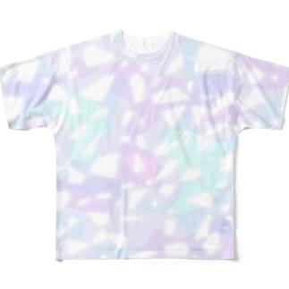 キラキラカラフルTシャツ 全面ユニコーンカラーver. Full graphic T-shirts