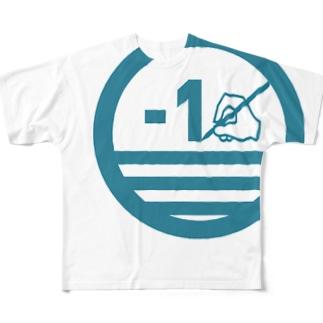 マイナスイチロゴ(クール) Full graphic T-shirts