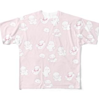ねこねここねこ Full graphic T-shirts
