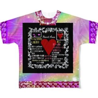 🎀新商品🎀ハートの大きさTシャツ💖/Heart area💖✨ (ハートエリア) Full graphic T-shirts