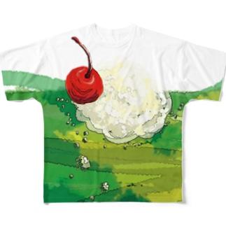メロンソーダ アレンジver. Full graphic T-shirts