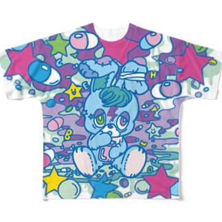 病み月のうさぎ Full graphic T-shirts