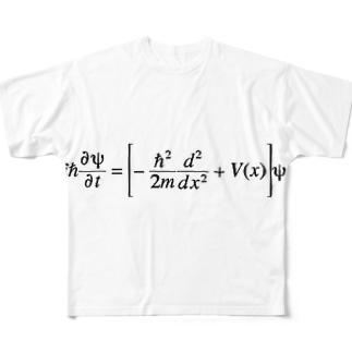 シュレディンガー方程式 Full graphic T-shirts