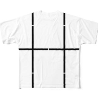 よシまるシンの折り畳みライン7 Full graphic T-shirts
