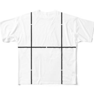よシまるシンの折り畳みライン8 Full graphic T-shirts