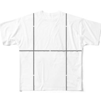 よシまるシンの折り畳みライン9 Full graphic T-shirts