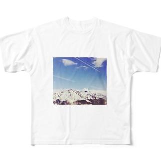 雪山 Full graphic T-shirts