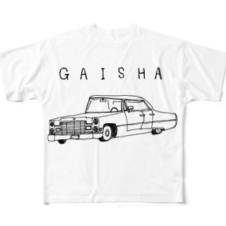 外車 Full graphic T-shirts