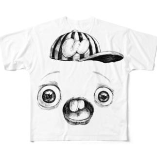 さちおくんの顔の写真 Full graphic T-shirts