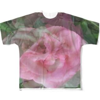 薔薇 Full graphic T-shirts
