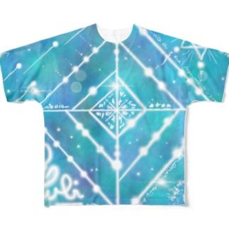 エネルギーアート キラキラ Full graphic T-shirts