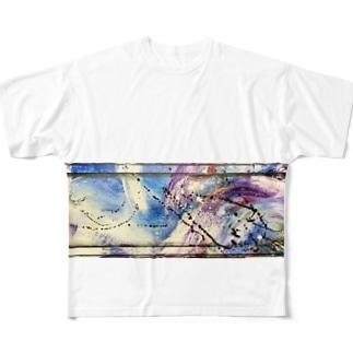 抽象画くん Full graphic T-shirts