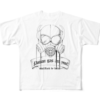 ガスマスク Full graphic T-shirts