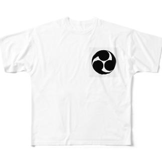 三つ巴 Full graphic T-shirts