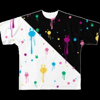 うさぎぶのとけうさ Full graphic T-shirts