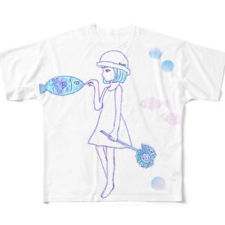 夏の少女 Full graphic T-shirts