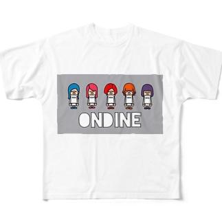 ONDINE 公式part2 Full graphic T-shirts