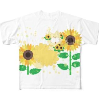 夏だよ!ひまわりの妖精 Full graphic T-shirts