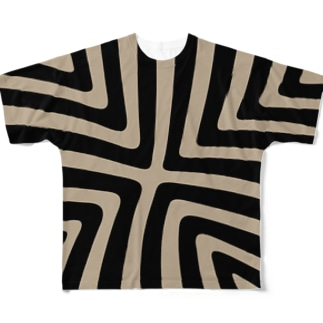 縞模様02 Full graphic T-shirts