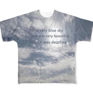 ブルースカイ Full graphic T-shirts