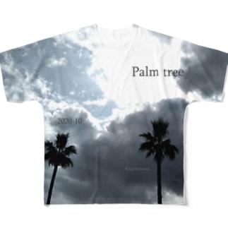 ヤシの木 Full graphic T-shirts
