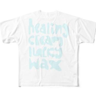 HCLW  ロゴ 薄い色 Full graphic T-shirts