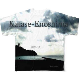 片瀬江ノ島 Full graphic T-shirts