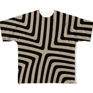 縞模様03 Full graphic T-shirts