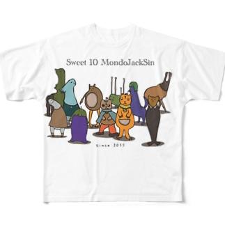 Sweet 10 MondoJackSin -集合- Full graphic T-shirts