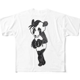 パンダボクサー Full graphic T-shirts