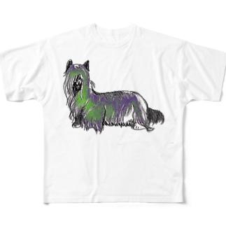 犬、独立した心を持つ犬 Full graphic T-shirts