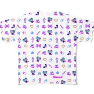 あぁちゃまのゆめかわ8bit Full graphic T-shirts