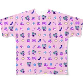あぁちゃまゆめかわ8bit ピンク Full graphic T-shirts