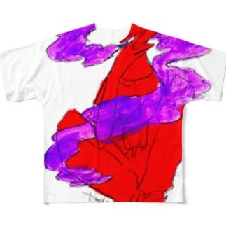 スモーキンガール Full graphic T-shirts